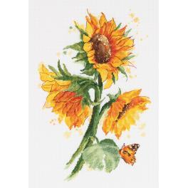 Vyšívací sada - Zářící slunečnice