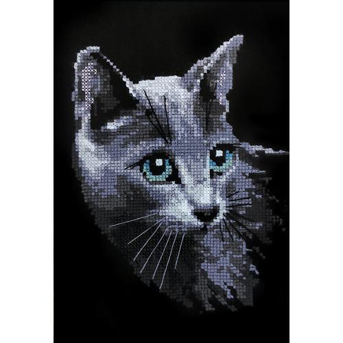 RIO 764 Vyšívací sada s akrylovou příze - Ruská kočka