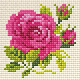 Diamond painting sada - Růžová růže