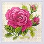 RIO AM0031 Diamond painting sada - Růžová růže