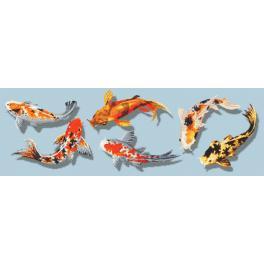 Předtištěná aida - Barevné rybičky