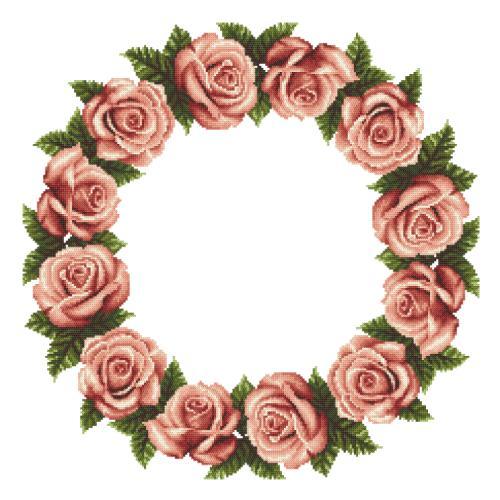 W 10610 Předloha ONLINE - Ubrousek s růžemi