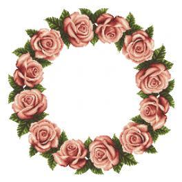 Předloha - Ubrousek s růžemi
