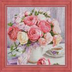 M AZ-1696 Diamond painting sada - Pivoňky a růže