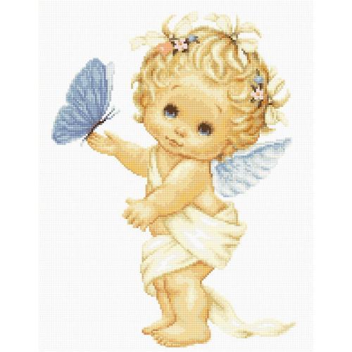 LS B368 Vyšívací sada - Andělíček s motýlkem