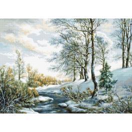 Vyšívací sada - Zimní krajinka
