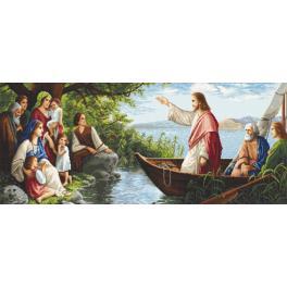 Vyšívací sada - Poslouchajíc Ježíše
