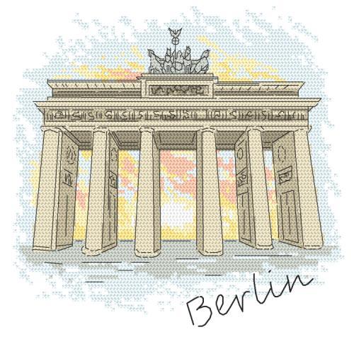 Z 10415 Vyšívací sada - Berlín - Braniborská brána