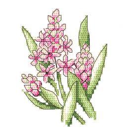 Vyšívací sada - Růžové hyacinty