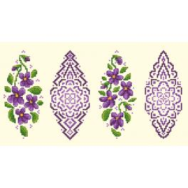 Předloha on line - Kraslice s fialkami