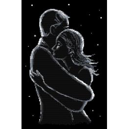 Vyšívací sada - Zamilovaní v noci