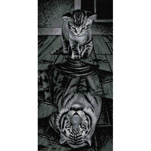 M AZ-1771 Diamond painting sada - Tygr ve mně
