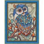 M AZ-1607 Diamond painting sada - Modrá sova