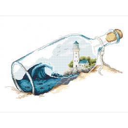 Vyšívací sada - Vzpomínky v láhvi