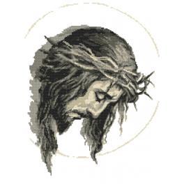 Sada s mulinkou a potiskem - Ježíš v trnové koruně