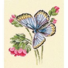 Vyšívací sada - Motýl na jemné květince