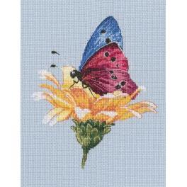 Vyšívací sada - Motýl na kytce