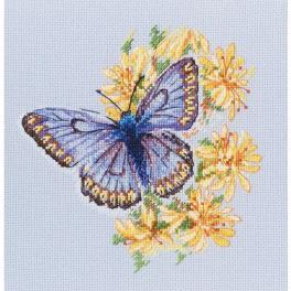 Vyšívací sada - Motýl na květech
