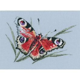 Vyšívací sada - Letní motýli krása
