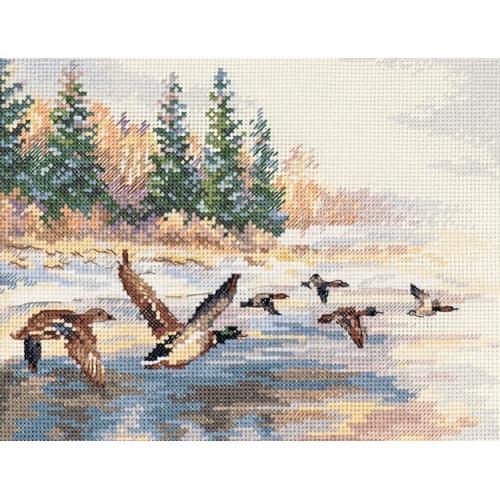 ALI 3-27 Vyšívací sada - Letící kachny