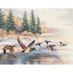 Vyšívací sada - Letící kachny