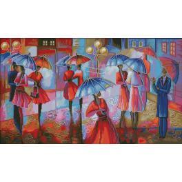 Vyšívací sada - Setkání v dešti