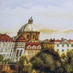 NCP 2225 Vyšívací sada s pozadím - Praha. Karlův most