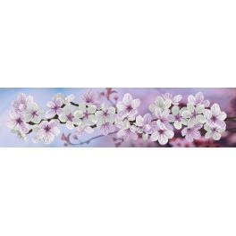 NCP 6232 Vyšívací sada s mulinkou a pozadím - Jarní květy