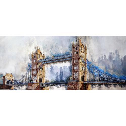 NHD 1501 Vyšívací sada s korálký - Legendární London Bridge