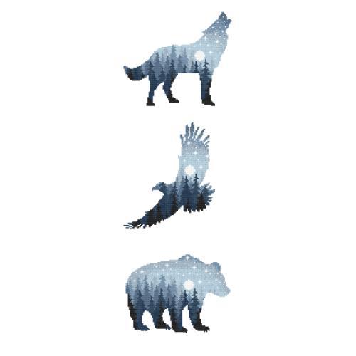 GC 10274 Předloha - Lesní zvířata