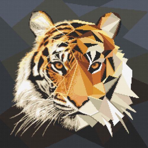 GC 10618 Předloha - Tygr z mozaiky