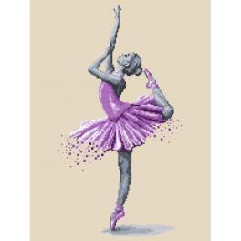 Vyšívací sada s mulinkou a potiskem - Baletka - Kouzlo tance