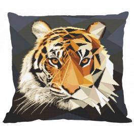 Předloha - Polštář - Tygr z mozaiky