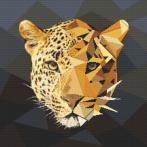 AN 10621 Předtištěná aida - Jaguár z mozaiky