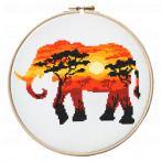 AN 10275 Předtištěná aida - Africká zvířata
