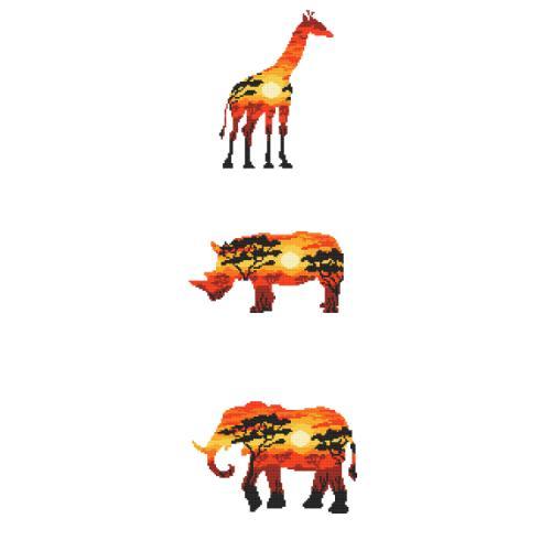 Z 10275 Vyšívací sada - Africká zvířata