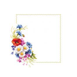 Předloha ONLINE pdf - Ubrousek s polními květy