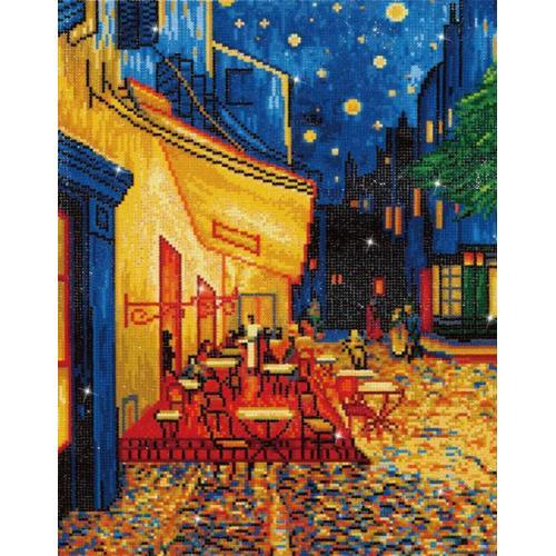 DD10.005 Diamond painting sada - Noční kavárna - V. van Gogh
