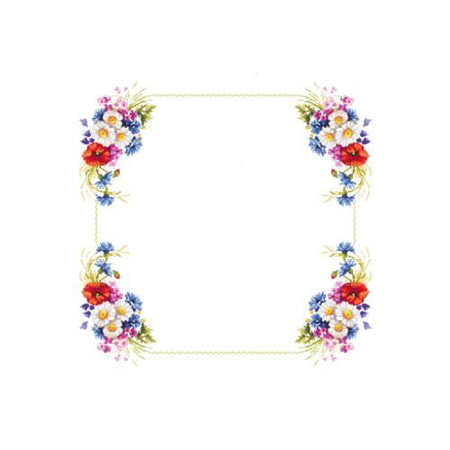 W 10433 Předloha ONLINE pdf - Ubrus s polními květy