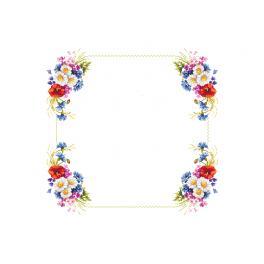 Vyšívací sada - Ubrus s polními květy