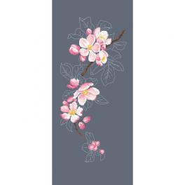 Z 10420 Vyšívací sada - Větvička kvetoucí jabloně