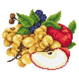 AN 8261 Jablka a hrozny - Předtištěná aida