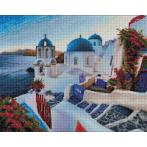 Diamond painting sada - Večer na Santorini