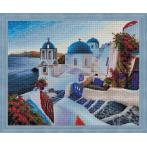M AZ-1803 Diamond painting sada - Večer na Santorini