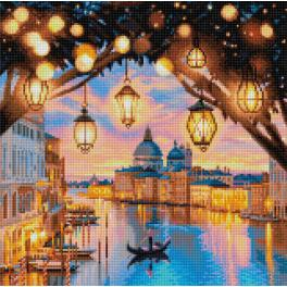 Diamond painting sada - Večer v Benátkách