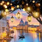 M AZ-1782 Diamond painting sada - Večer v Benátkách