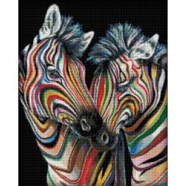 Diamond painting sada - Barevné zebry
