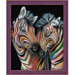 M AZ-1556 Diamond painting sada - Barevné zebry