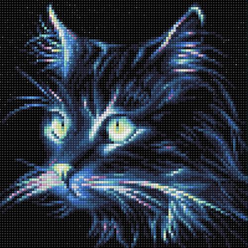 Diamond painting sada - Neonová kočka