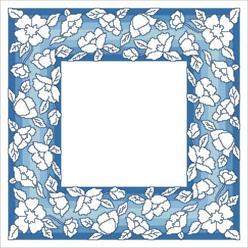 W 10629 Předloha ONLINE pdf - Ubrousek s květinami